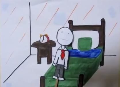 A scene from <i>Bill&#8217;s Story</i>, the winner of our Human Happiness Student Video Competition.