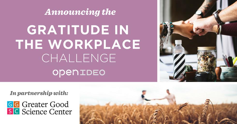 Gratitude at Work Challenge